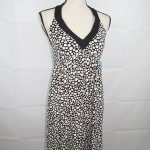 London Times Halter Dress Size 8 Polka Dot NEW